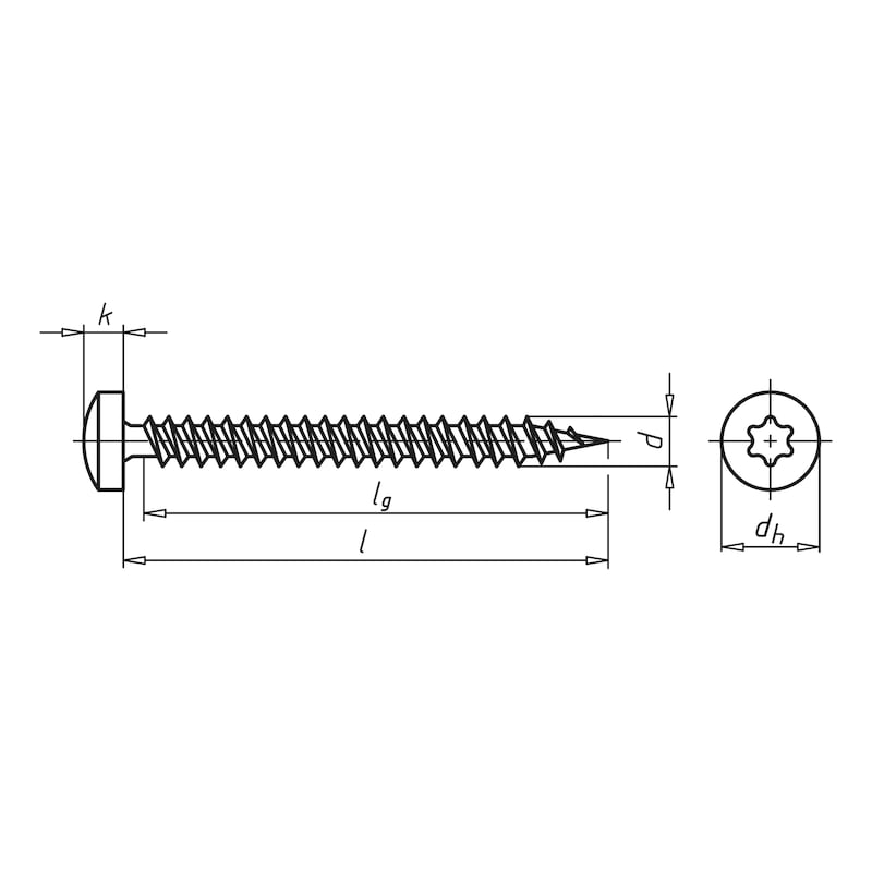 ASSY<SUP>®</SUP> 3.0, blue galvanised Particle board screw - SCR-PANHD-WO-AW20-(A3K)-4,5X50/46,0