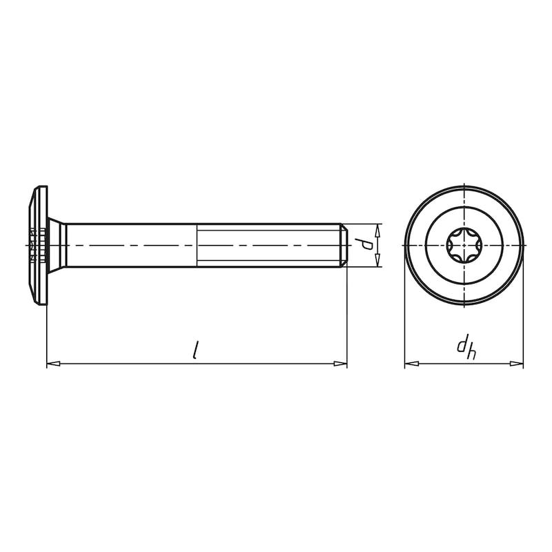 Treppenbauschraube metrisches Gewinde - 2