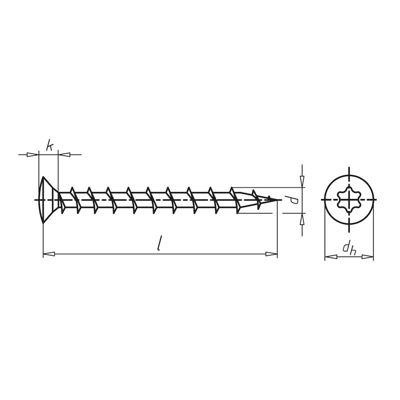 Fensterbaureparaturschraube Linsensenkkopf FBS - 2
