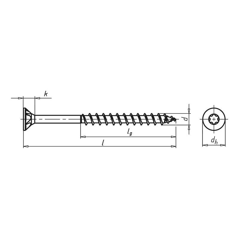 ASSY<SUP>®</SUP> 3.0 yellow galvanised Particle board screw - SCR-CS-MPK-WO-AW30-(A2L)-6X220/70