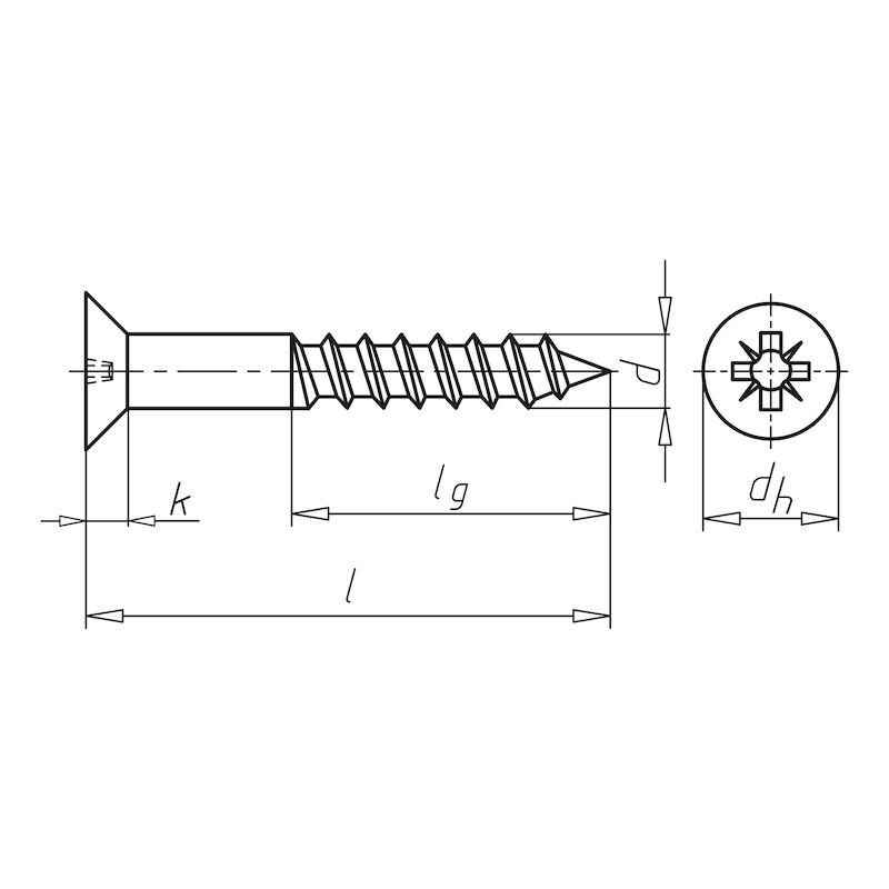 Dübelschraube DIN 7997 Senkkopf mit Kreuzschlitz - 2