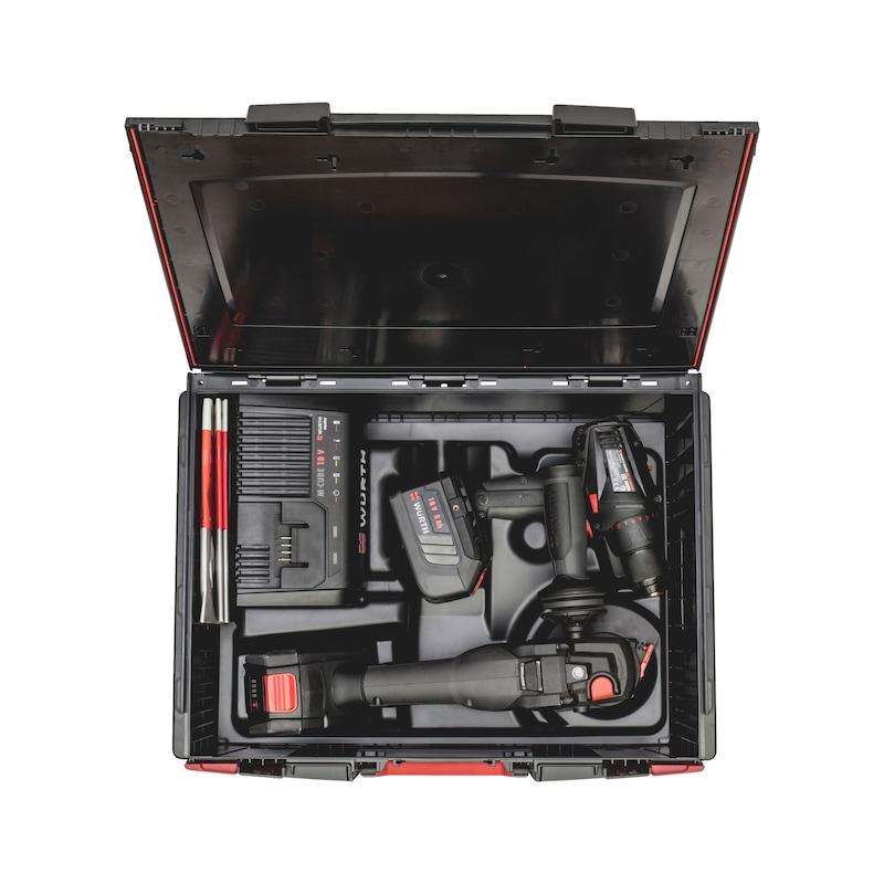 Akku-Winkelschleifer-Bohrschrauber-Set - 1