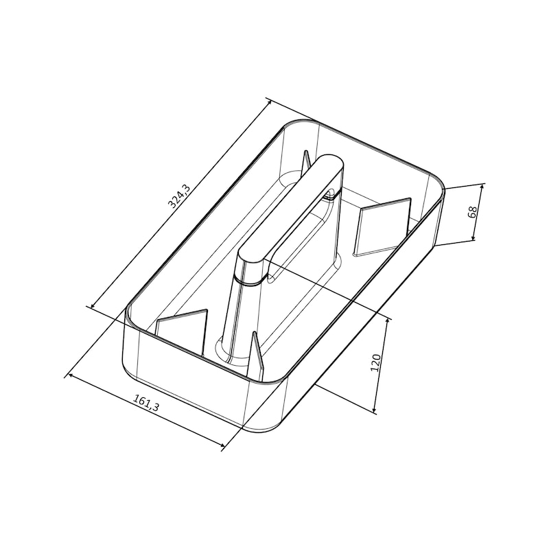 Transport- und Aufbewahrungsbox OrgaMove - 2
