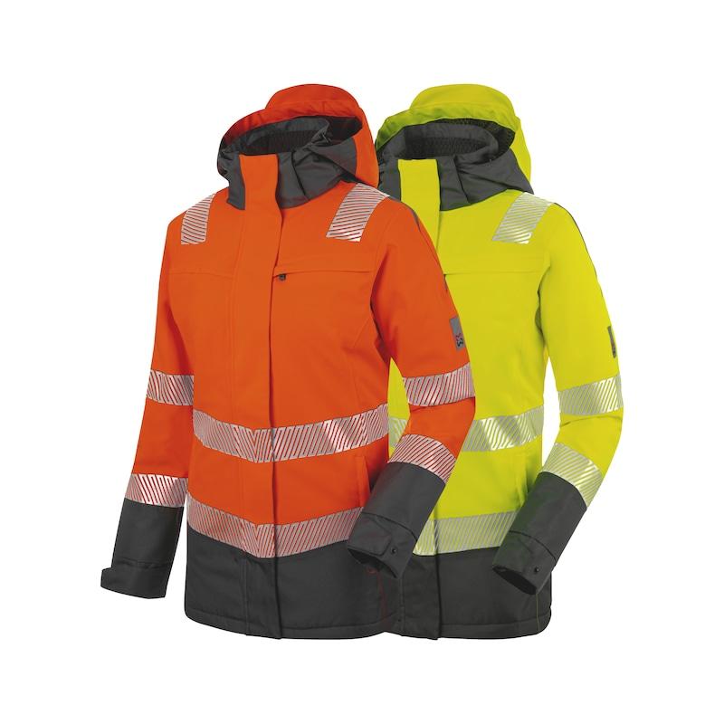 Neon Warnschutz Winterjacke Klasse 3 Damen