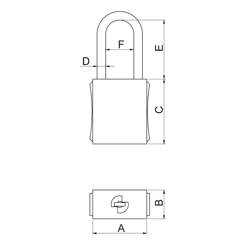 Vorhängeschloss Safety Typ 1 - 2
