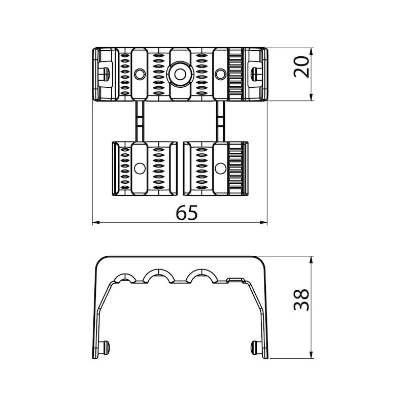 Kabelführung vertikal, runde Gliederform - 2