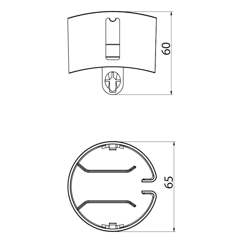 Kabelführung vertikal, runde Gliederform - 3