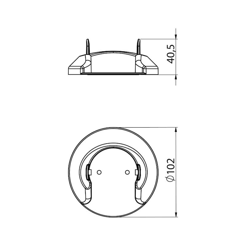 Kabelführung vertikal, runde Gliederform - 4