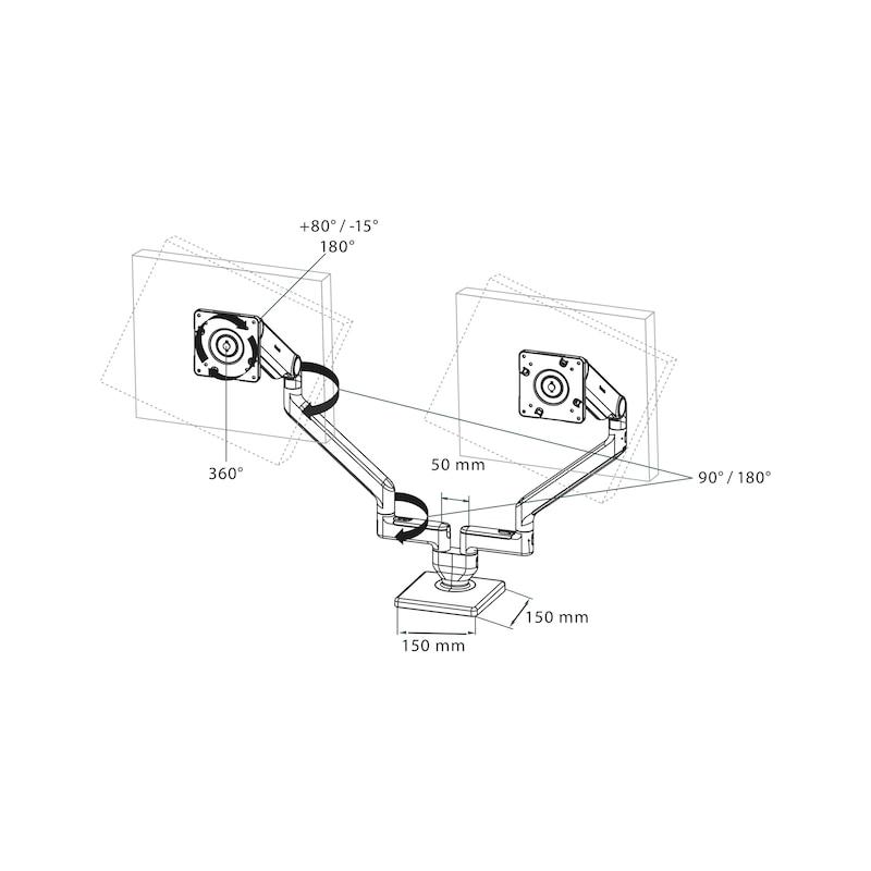 Monitorhalter M2.1 Dual - 3