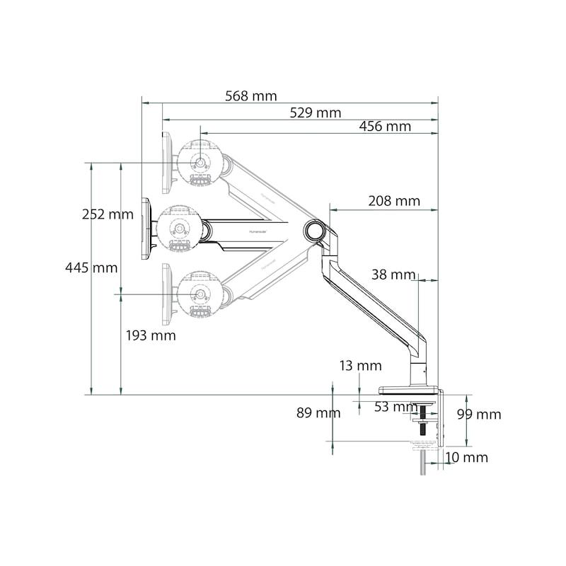 Monitorhalter M2.1 Single - 2
