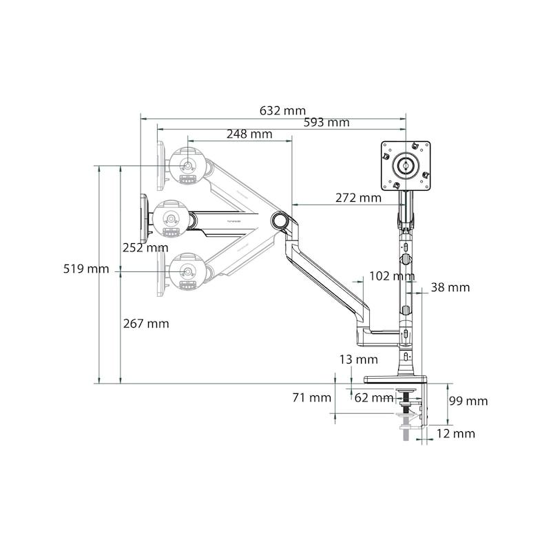 Monitorhalter M2.1 Dual - 2