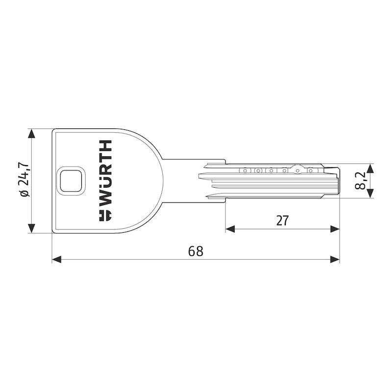 Nachschlüssel für Lagerzylinder W6X - 2