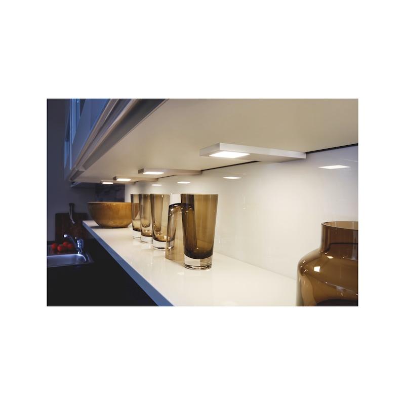 LED-Unterbauleuchte UBL-24-7-Set zum Unterschrauben unter Regalböden oder Ober-/Hängeschränke - 4