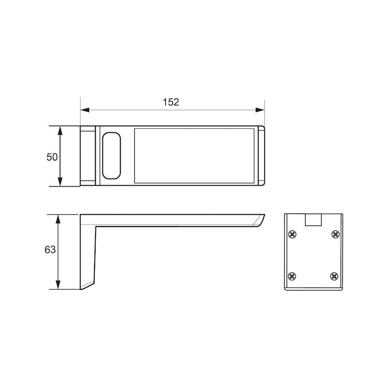 LED-Unterbauleuchte UBL-12-13 zum Anschrauben - 2