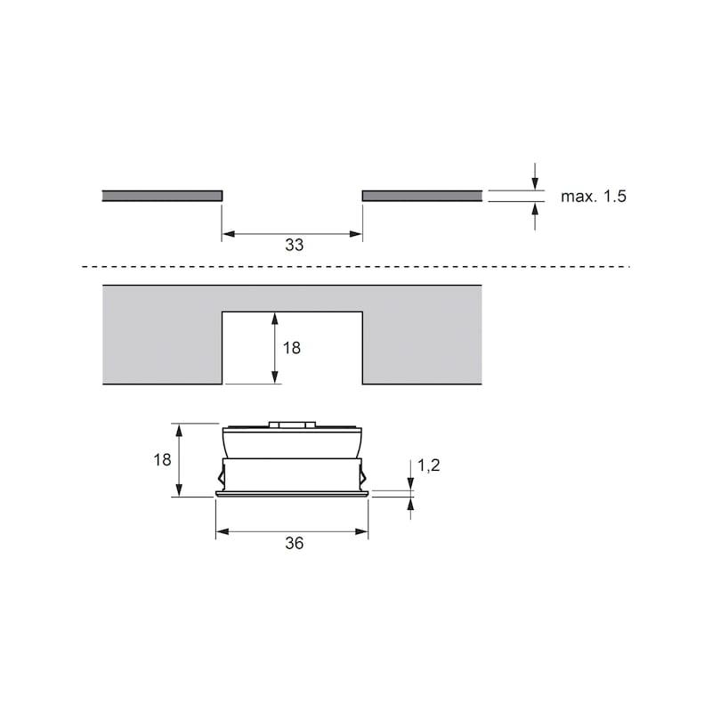 LED-Einbauleuchte EBL-12-8 zum Einlassen - 3