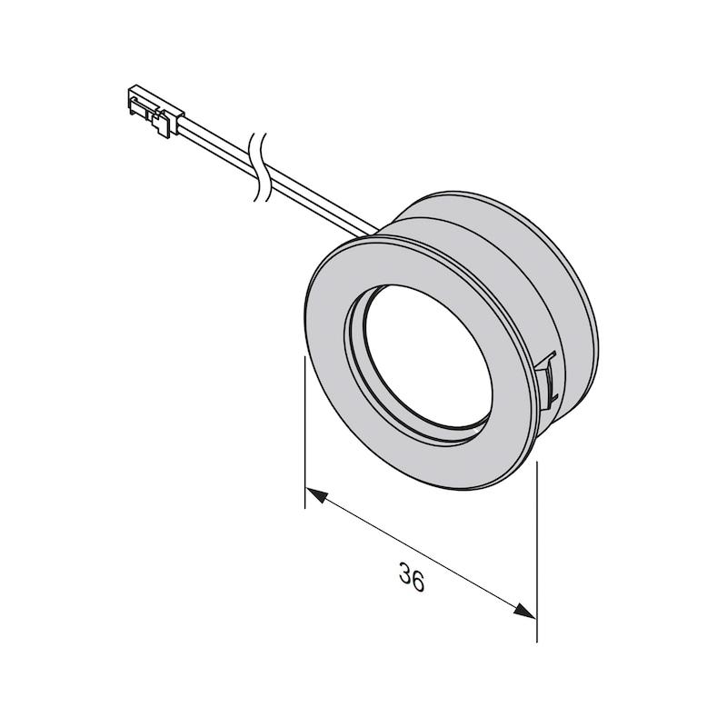 LED-Einbauleuchte EBL-12-8 zum Einlassen - 4