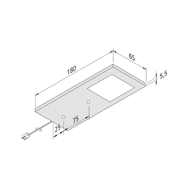 LED-Unterbauleuchte UBL-24-7-Set zum Unterschrauben unter Regalböden oder Ober-/Hängeschränke - 2