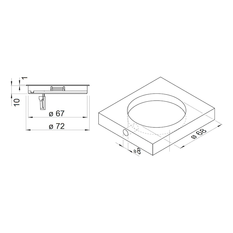 Induktive Ladestation 12V zum kabellosen Laden von Geräten mit Induktionsakkus - 2