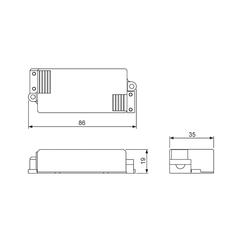 LED-Trafo 350mA zum Einbauen - 2