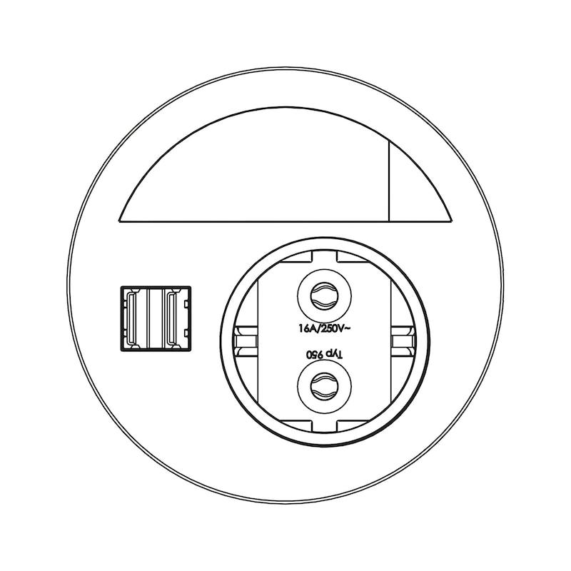 Einbau-Steckdose EST-5 - 2
