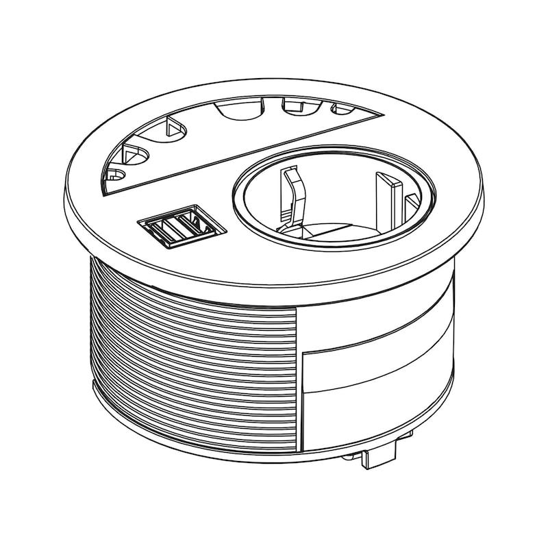 Einbau-Steckdose EST-5 - 3