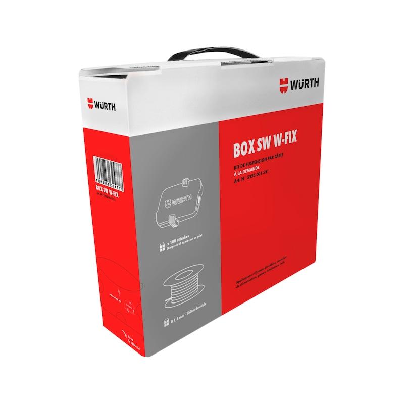 Box attaches SW1 W-FIX et bobine de câble de suspension - 1