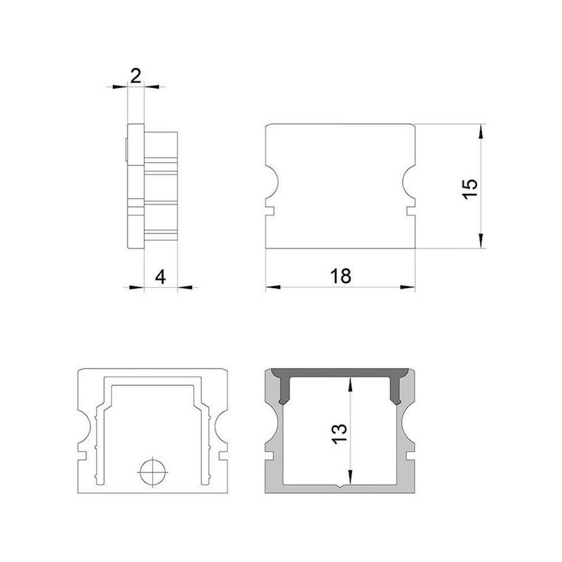 Endkappen-Set zu UBP-8 - 2