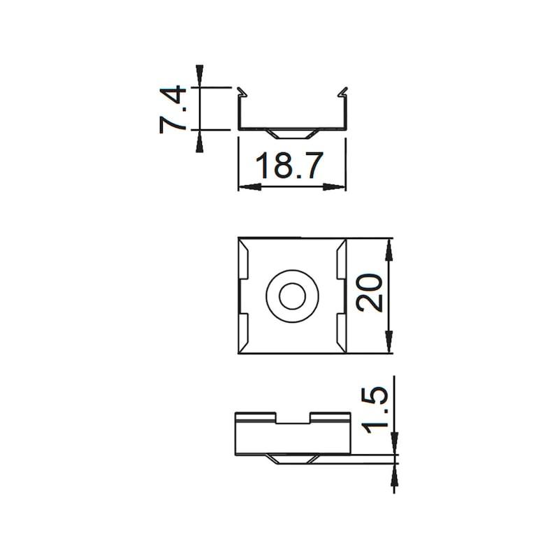 Halteklammern-Set zu UBP-7/UBP-8 - 1
