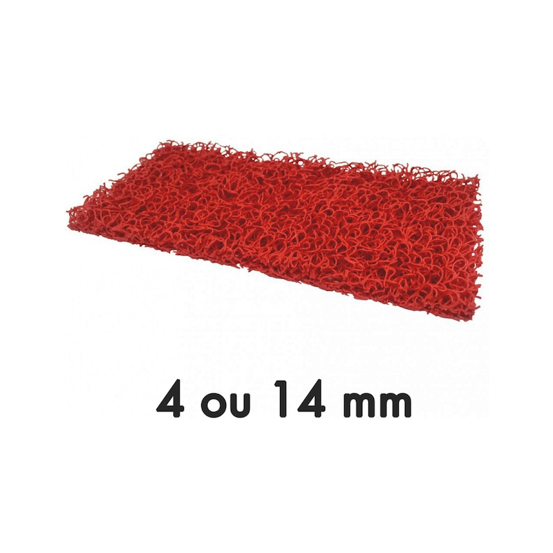 Tapis de sécurité rouge
