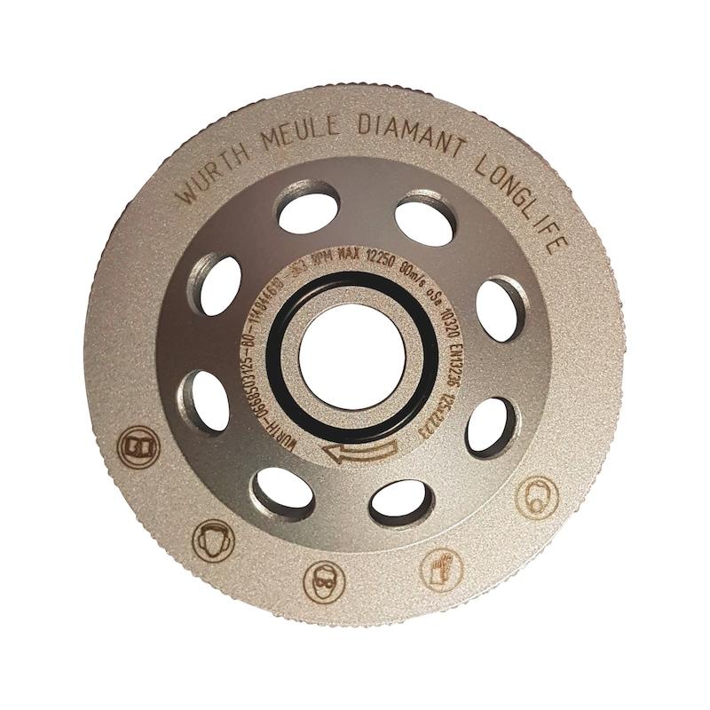 Meule diamant anti-vibratile