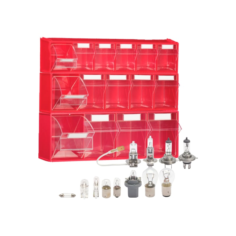 12V Car Bulbs Set with Storage Box 123pcs