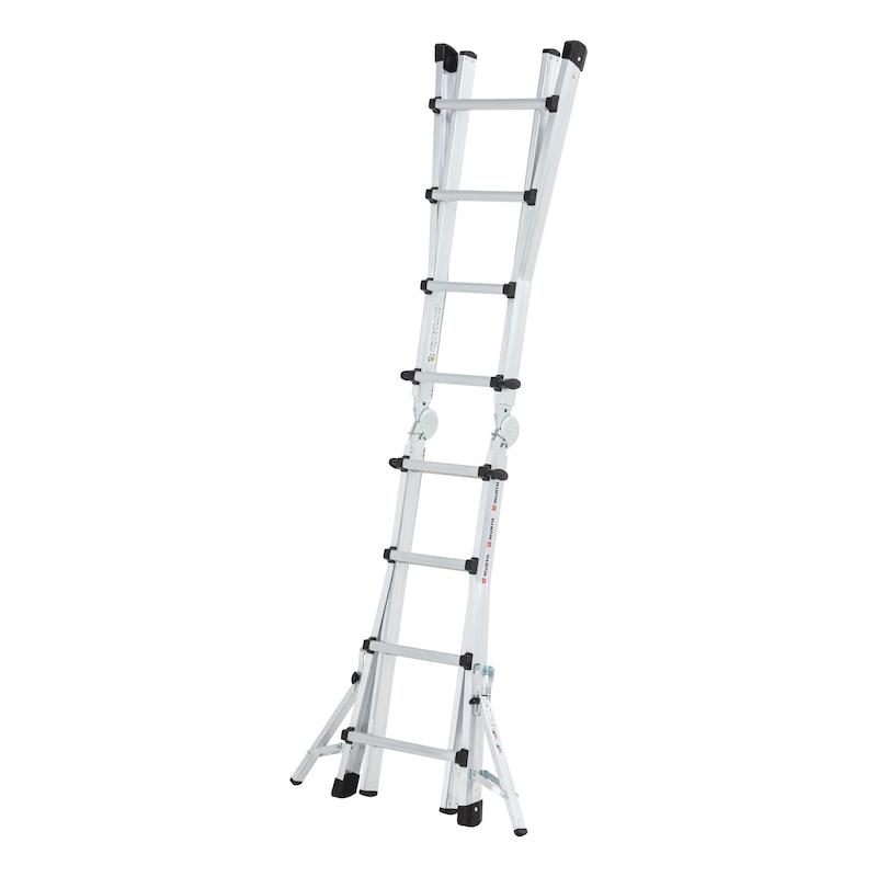 Scala telescopica in alluminio con staffe traversa richiudibili - 2
