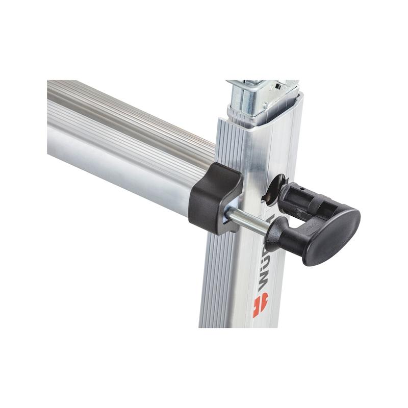 Scala telescopica in alluminio con staffe traversa richiudibili - 7