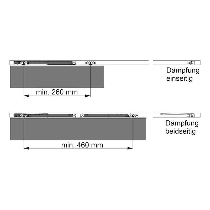 Dämpfungssystem Redoslide - ZB-DAEMPF-SHIEBTR-REDOSLID-M25/35-25KG