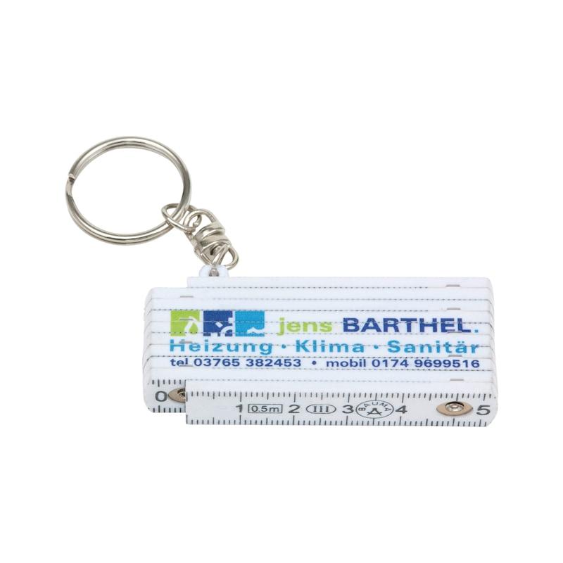 Schlüsselanhänger Mini-Meterstab - 1
