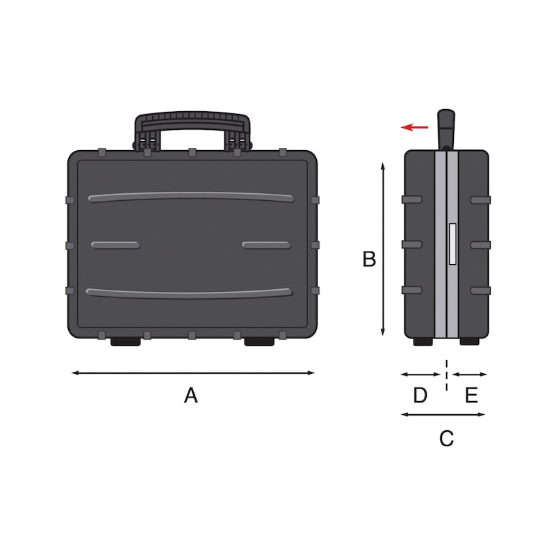 Werkzeugkoffer - WZGKOFFR-PP-490X380X220MM