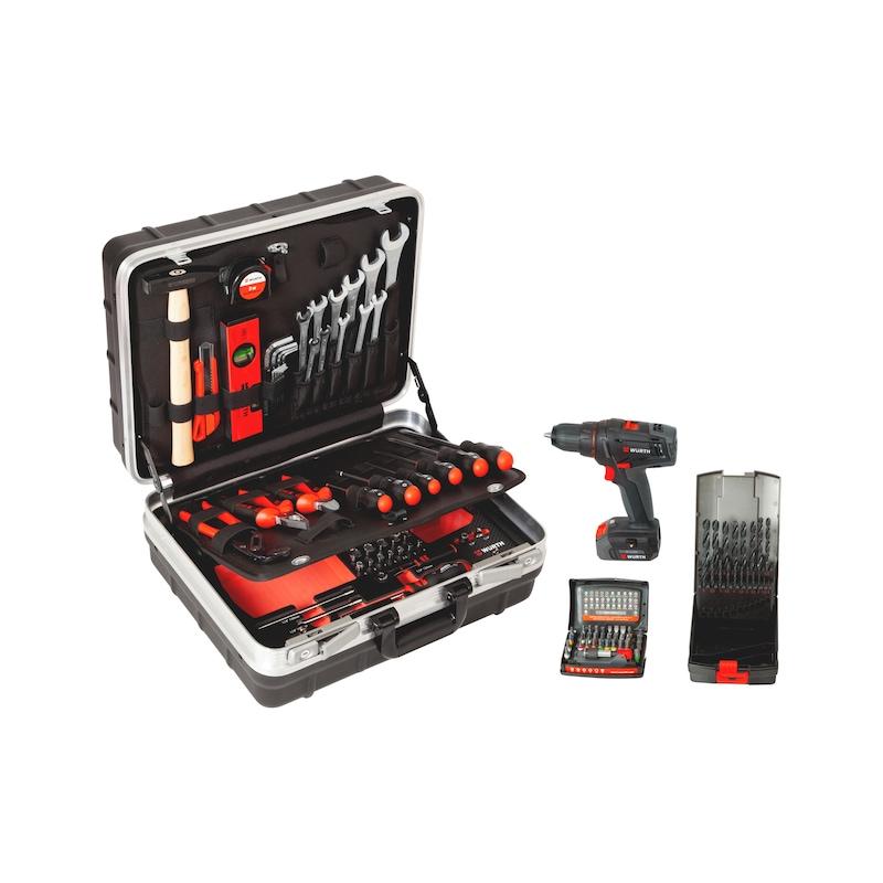 Assortimento di utensili con trapano avvitatore a batteria M-CUBE®, 108 pezzi - 5