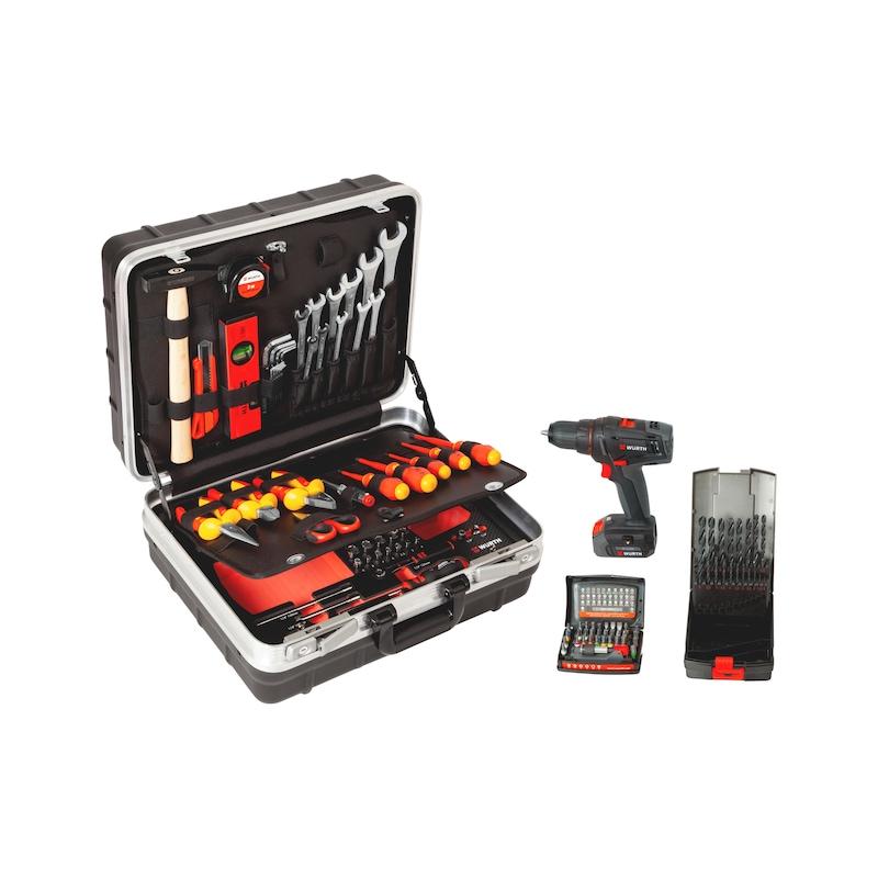 Assortimento di utensili con trapano avvitatore a batteria M-CUBE®, 109 pezzi - 5