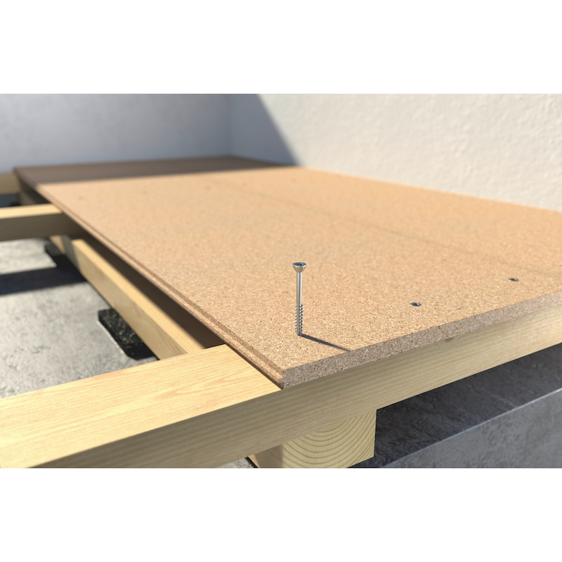 ASSY<SUP>®</SUP>plus 4 CSMR 60 FLOOR Dielenschraube Stahl gehärtet verzinkt Teilgewinde Senkfräskopf 60° - 10