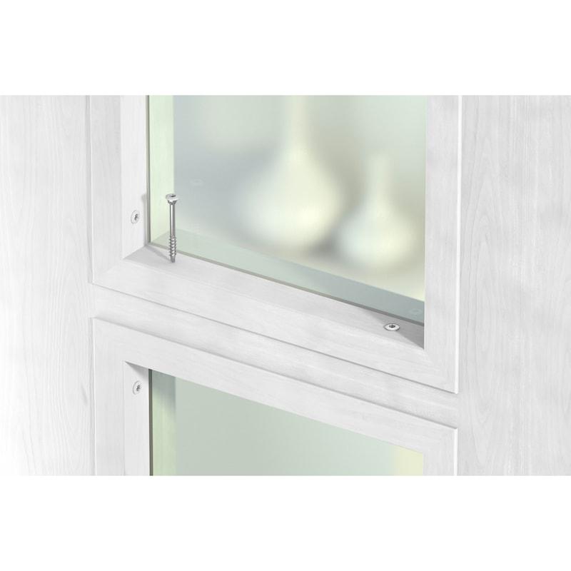 ASSY<SUP>®</SUP>plus 4 TH Glasleistenschraube Stahl gehärtet verzinkt Teilgewinde Top Head 60° - 10