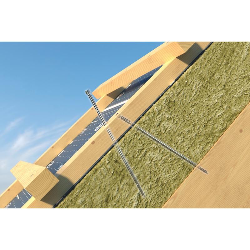 Vis de toiture ASSY<SUP>®</SUP> 4 Isotop Acier zingué, double filetage, tête cylindrique - 10