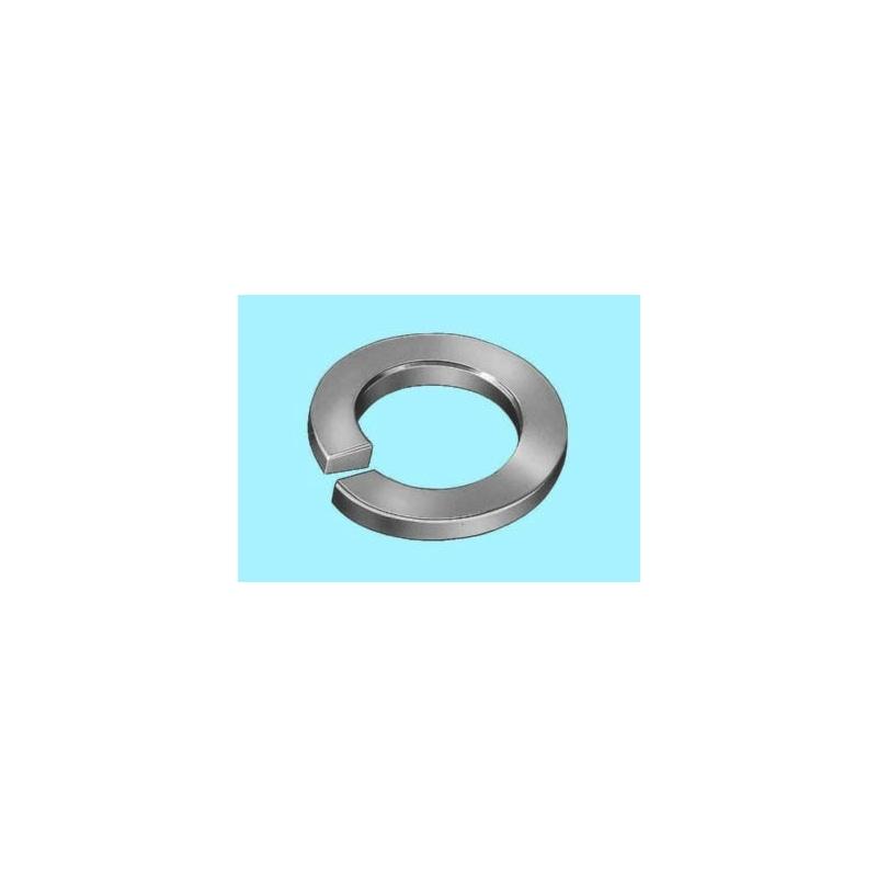 Kilit rondelası, kıvrımlı, A form - YARIKLI RONDELA DIN128-A-(A2)-D5,1