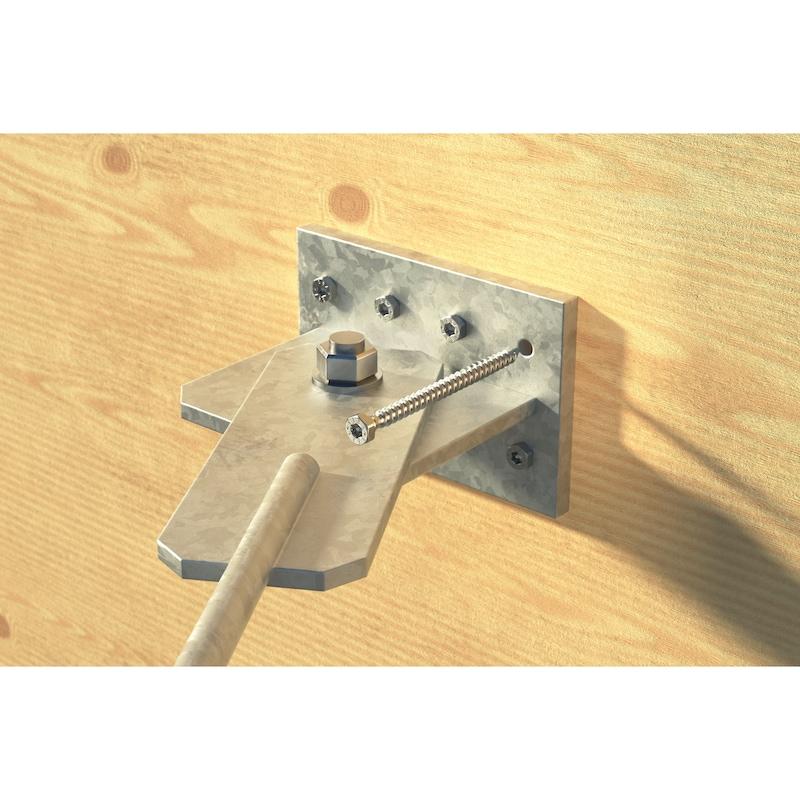 ASSY<SUP>®</SUP>plus FT 4 Combi Vite per carpenteria in legno, in acciaio zincato, filetto intero, testa esagonale - 10