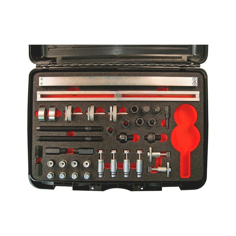 Injektoren-Demontage-Satz, mechanisch Delphi, Denso, Siemens, Bosch - SET INJEKTOREN-DEMONTAGE, BASIS UNIVERS.
