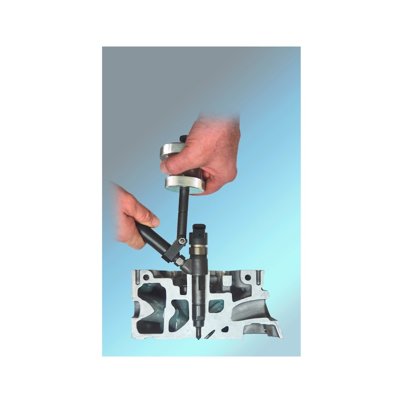 Gleithammer-Injektoren-Auszieher-Satz Delphi, Denso, Siemens, Bosch - 3