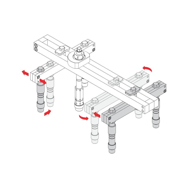 Kit de remoção de injetores universal, 38 peças - 7