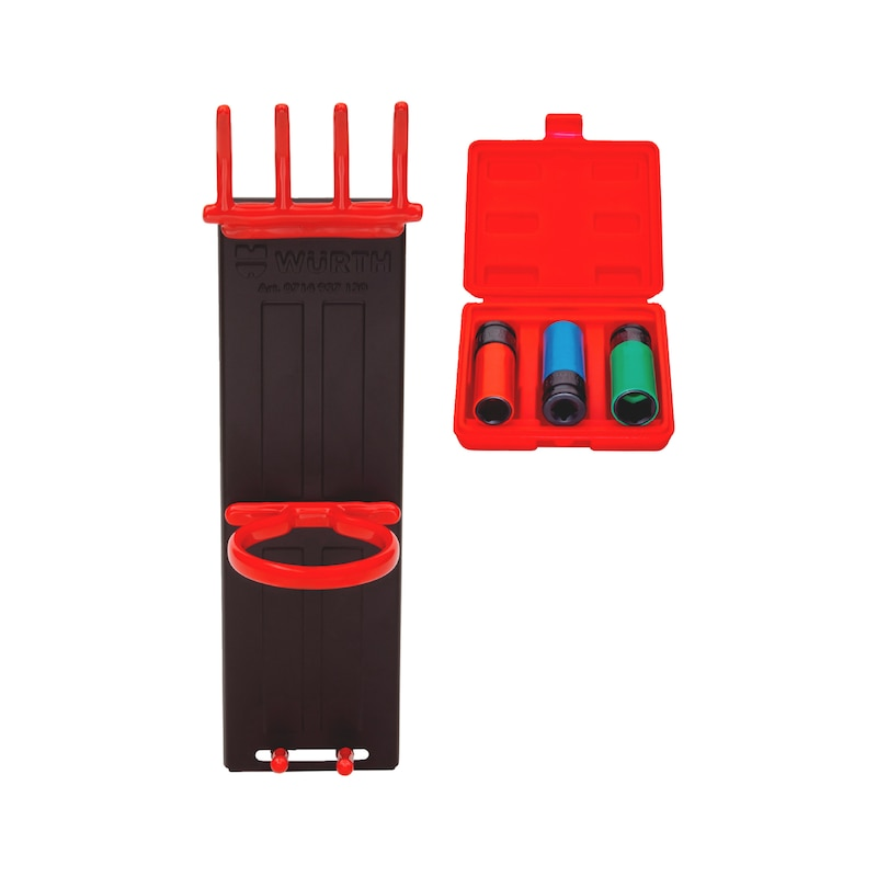 1/2 Zoll Kraftsteckschlüssel + Werkzeughalter Set 4-teilig