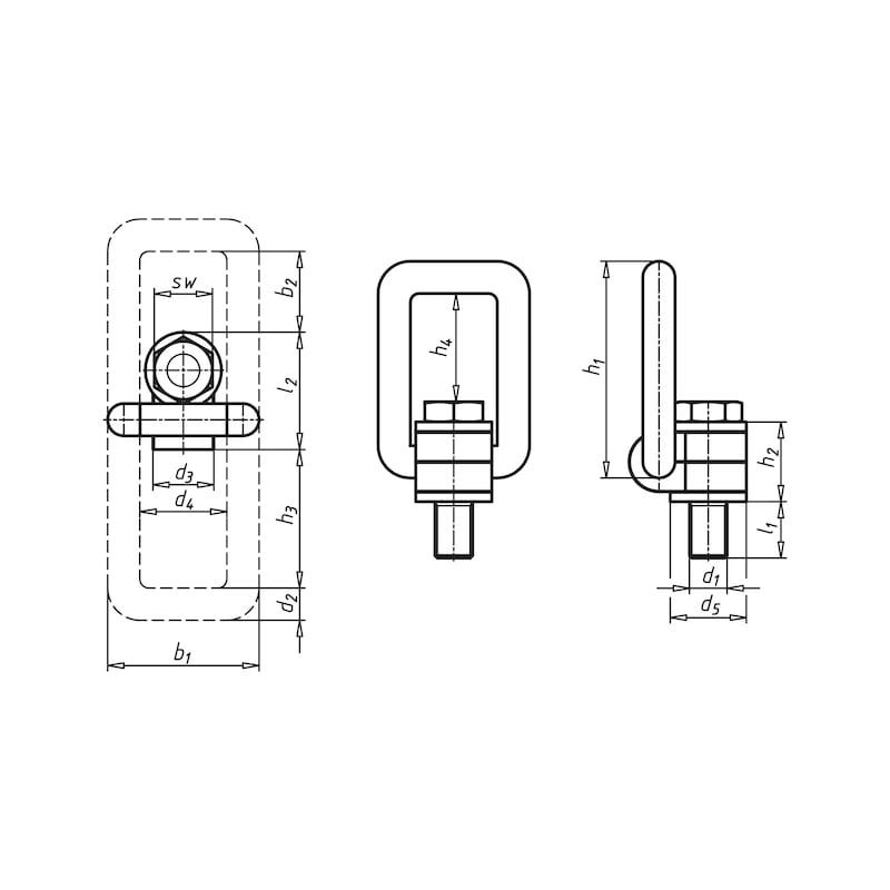 Lastbock mit unverlierbarer Schraube - 2
