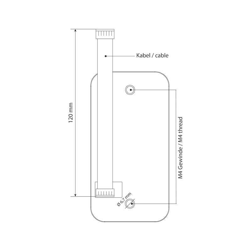 Elektronisches RFID-Zahlenkombinationsschloss TwinPad - 3