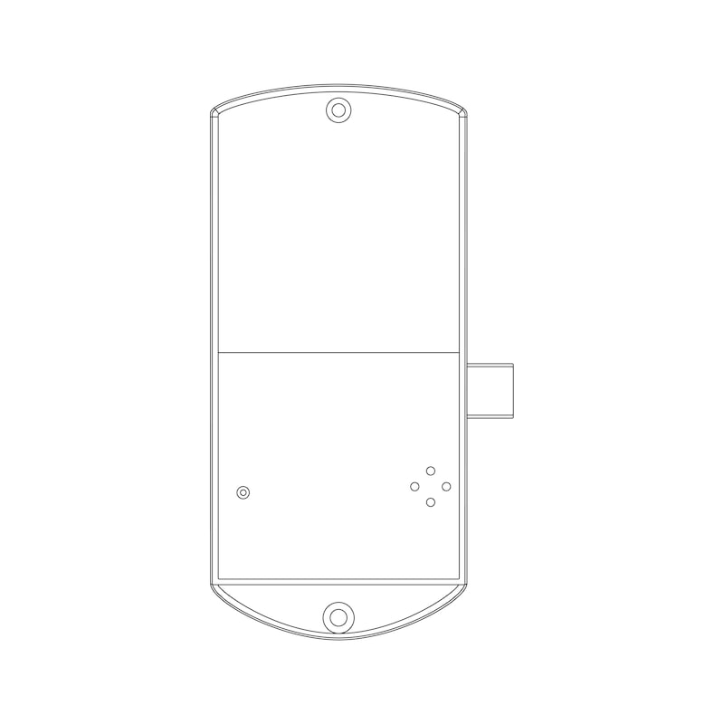 Elektronisches RFID-Zahlenkombinationsschloss TwinPad - 7